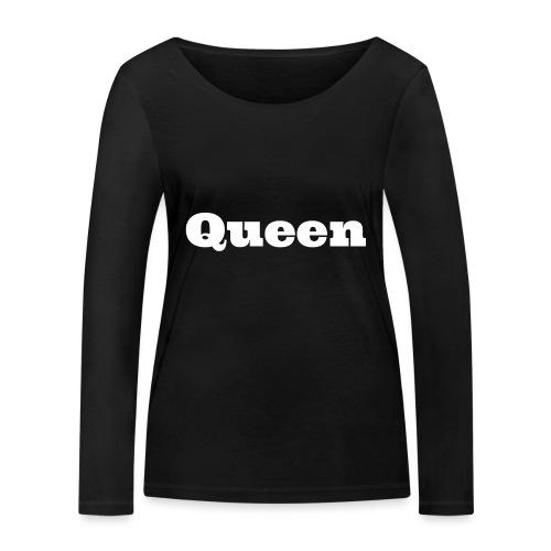 Snapback queen zwart/grijs - Vrouwen bio shirt met lange mouwen van Stanley & Stella