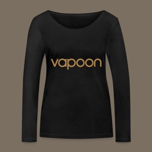 Vapoon Logo simpel 01 - Frauen Bio-Langarmshirt von Stanley & Stella