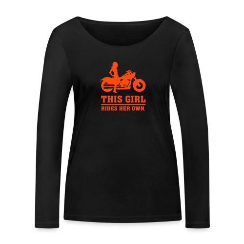 This Girl rides her own - Custom bike - Stanley & Stellan naisten pitkähihainen luomupaita