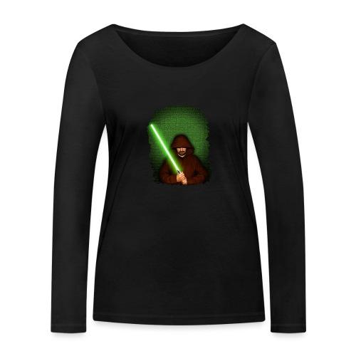 Jedi warrior with green lightsaber - Maglietta a manica lunga ecologica da donna di Stanley & Stella
