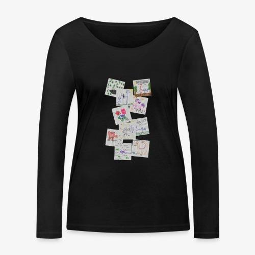 Drawings - Women's Organic Longsleeve Shirt by Stanley & Stella