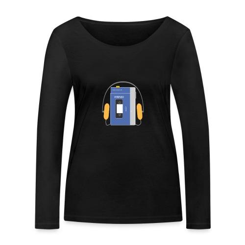 Stereo walkman in blue - Women's Organic Longsleeve Shirt by Stanley & Stella
