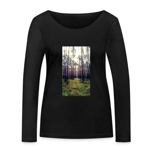 Las we mgle - Ekologiczna koszulka damska z długim rękawem Stanley & Stella