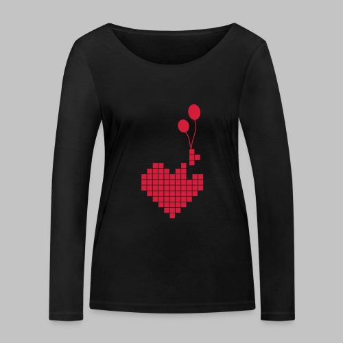 heart and balloons - Women's Organic Longsleeve Shirt by Stanley & Stella