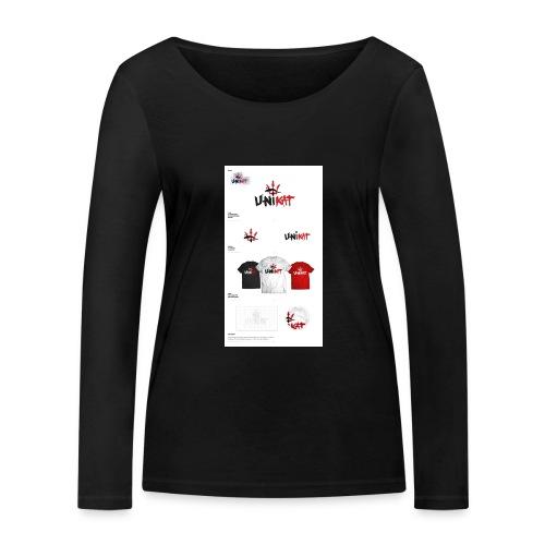 unikat_1 - Ekologiczna koszulka damska z długim rękawem Stanley & Stella