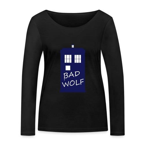 Bad Wolf Tardis - T-shirt manches longues bio Stanley & Stella Femme