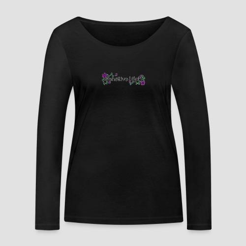 Sensitive Bitch (white outline) - Women's Organic Longsleeve Shirt by Stanley & Stella