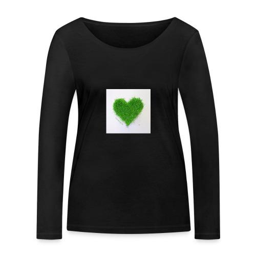 Herzrasen Button - Frauen Bio-Langarmshirt von Stanley & Stella