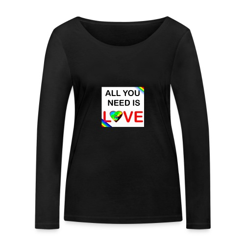 all you need is peace and love - T-shirt manches longues bio Stanley & Stella Femme