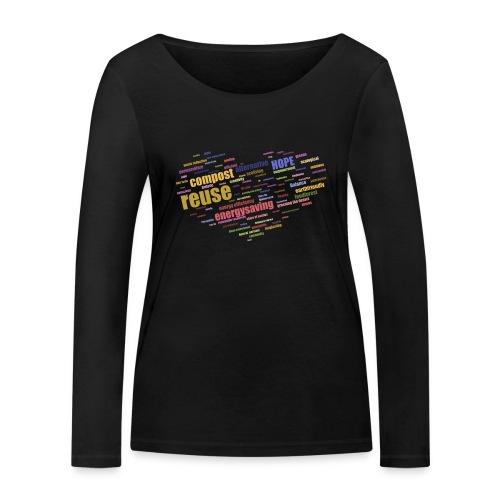 Ett hjärta med alternativa lösningar o framtidstro - Ekologisk långärmad T-shirt dam från Stanley & Stella