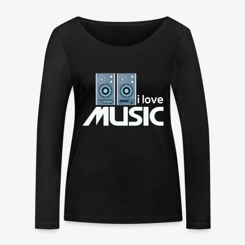 Amo la música 02 - Camiseta de manga larga ecológica mujer de Stanley & Stella