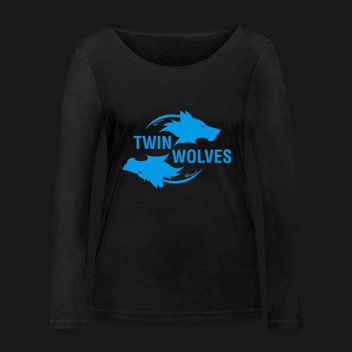 Twin Wolves Studio - Maglietta a manica lunga ecologica da donna di Stanley & Stella