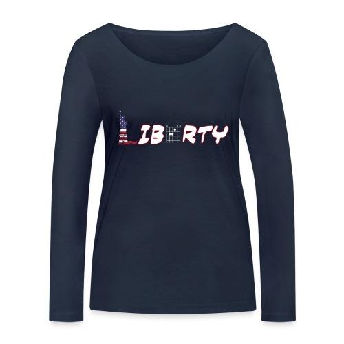 Liberty in a Guitar Chord - Chordword - Women's Organic Longsleeve Shirt by Stanley & Stella