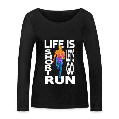 Laufsport Marathon Jogging Geschenkideen - Frauen Bio-Langarmshirt von Stanley & Stella