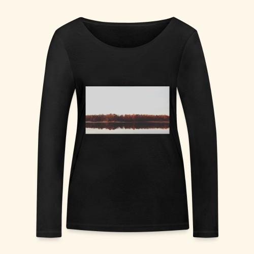 Jesienne jezioro - Ekologiczna koszulka damska z długim rękawem Stanley & Stella