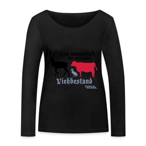 viehbestandnational2 - Frauen Bio-Langarmshirt von Stanley & Stella
