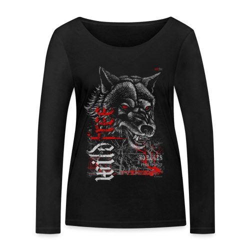 WILDFREE   WOLF - Frauen Bio-Langarmshirt von Stanley & Stella