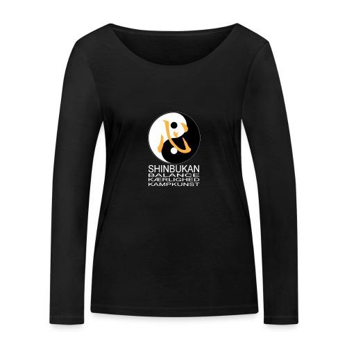 Shinbukan Tai Chi og tegnet for Kokoro hvidt tryk - Økologisk Stanley & Stella langærmet T-shirt til damer