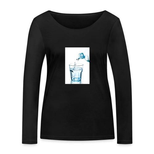 Glas-water-jpg - Vrouwen bio shirt met lange mouwen van Stanley & Stella