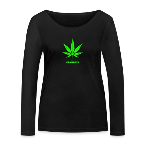 cannabis, cannabis community, amsterdam, art, love - Women's Organic Longsleeve Shirt by Stanley & Stella