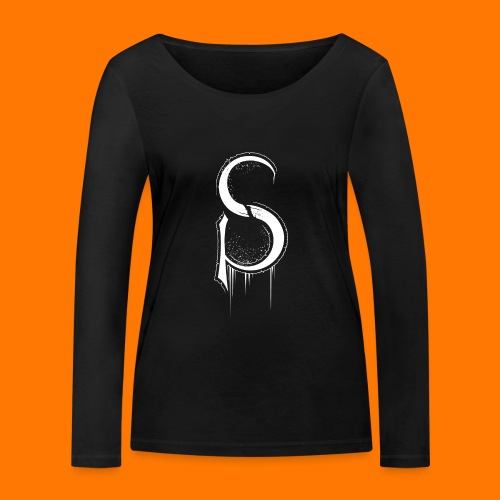 SCP-sign-WHITE transp - Women's Organic Longsleeve Shirt by Stanley & Stella