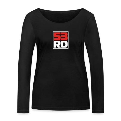 53RD Logo kompakt umrandet (weiss-rot) - Frauen Bio-Langarmshirt von Stanley & Stella