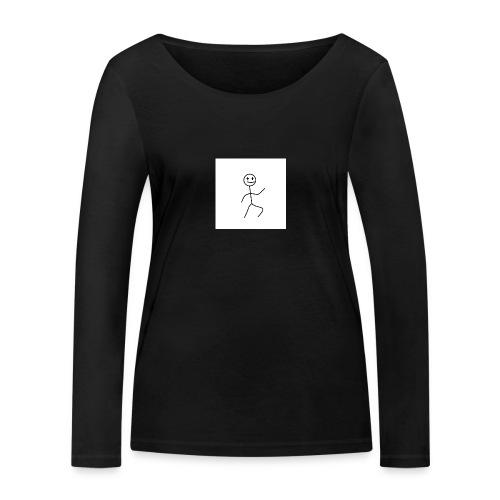 stick man t-shirt dance 1,0 - Økologisk Stanley & Stella langærmet T-shirt til damer