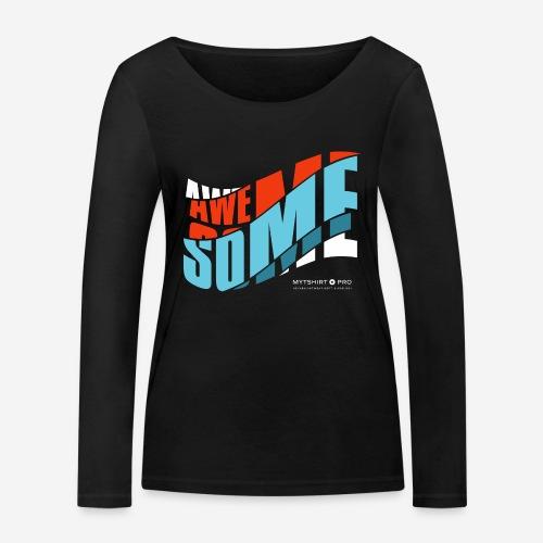 fantastische T-Shirt Design Diagonale - Frauen Bio-Langarmshirt von Stanley & Stella