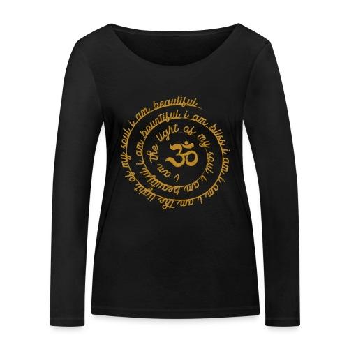 Yoga Mantra Fashion I am the light of my soul - Frauen Bio-Langarmshirt von Stanley & Stella