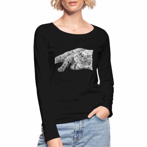 Petit chaton au crayon gris - T-shirt manches longues bio Stanley & Stella Femme
