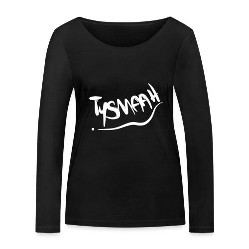 Logo blanc - TYSMAAH - T-shirt manches longues bio Stanley & Stella Femme