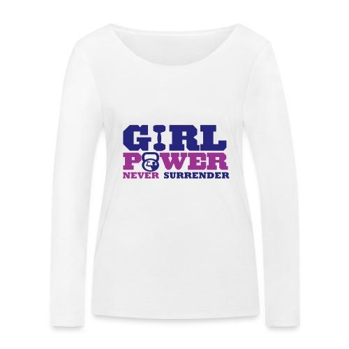 GIRL POWER NEVER surrender 01 - Camiseta de manga larga ecológica mujer de Stanley & Stella