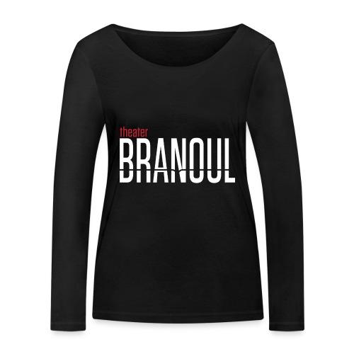 Branoul Logo rood wit - Vrouwen bio shirt met lange mouwen van Stanley & Stella