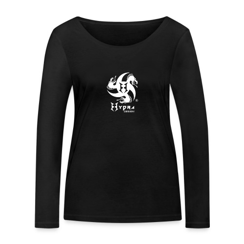 Hydra DESIGN - logo white - Maglietta a manica lunga ecologica da donna di Stanley & Stella