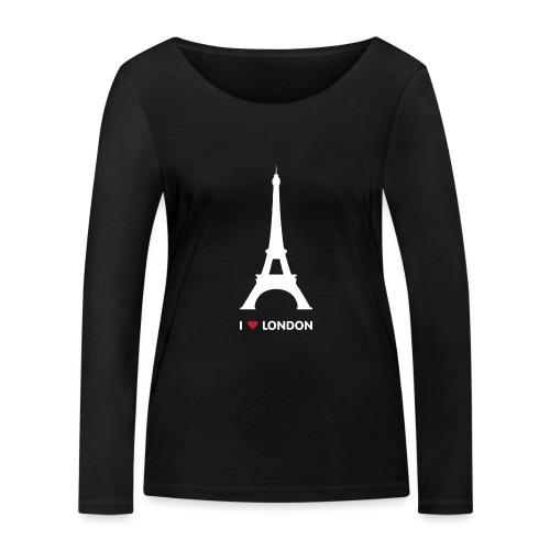 I love London - Women's Organic Longsleeve Shirt by Stanley & Stella