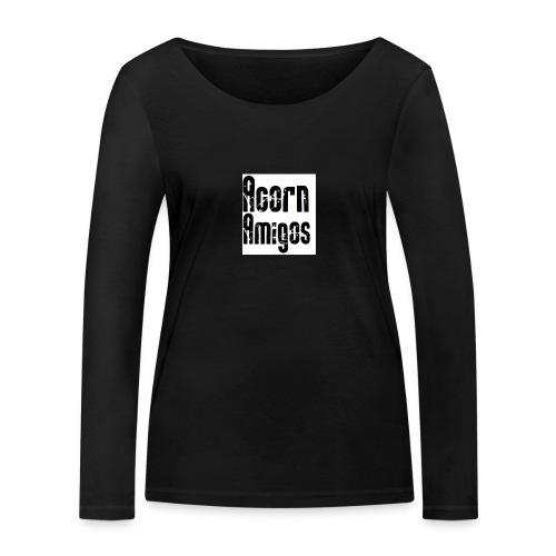 acorn amigos badge - Ekologisk långärmad T-shirt dam från Stanley & Stella