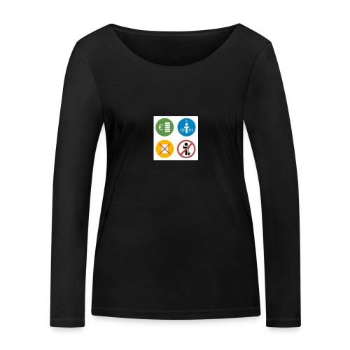 4kriteria obi vierkant - Vrouwen bio shirt met lange mouwen van Stanley & Stella