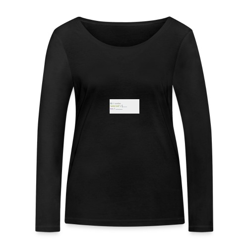 code - T-shirt manches longues bio Stanley & Stella Femme