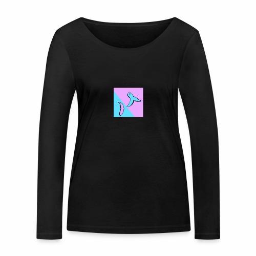 Stop fighting have a banana - Økologisk langermet T-skjorte for kvinner fra Stanley & Stella