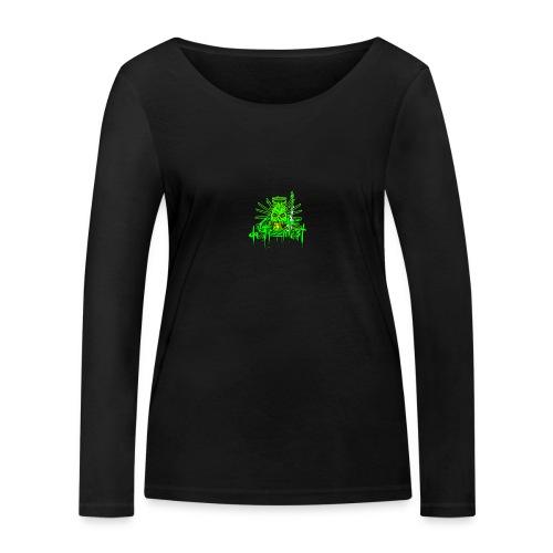 GFSkullOnlyColorShirt - Women's Organic Longsleeve Shirt by Stanley & Stella