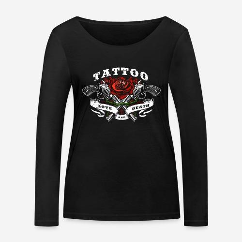 tattoo love roses rose pistols guns - Frauen Bio-Langarmshirt von Stanley & Stella