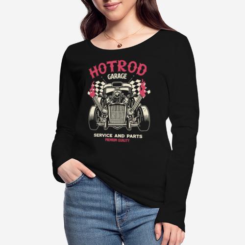 hotrod vintage cars - Frauen Bio-Langarmshirt von Stanley & Stella