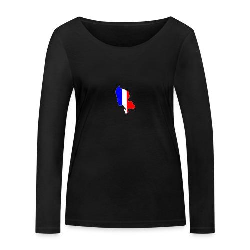 Carte Territoire de Belfort bleu blanc rouge - T-shirt manches longues bio Stanley & Stella Femme