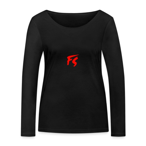 FS Logo rood - Vrouwen bio shirt met lange mouwen van Stanley & Stella