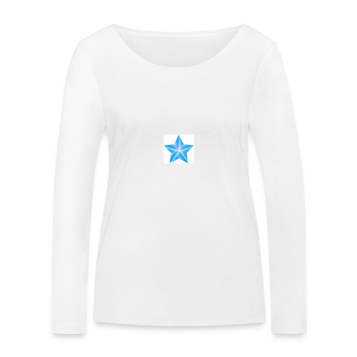 blue themed christmas star 0515 1012 0322 4634 SMU - Women's Organic Longsleeve Shirt by Stanley & Stella