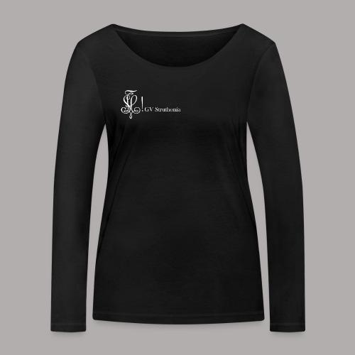 Zirkel mit Name, weiss (vorne) - Frauen Bio-Langarmshirt von Stanley & Stella