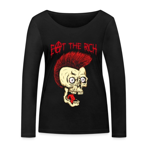 Eat The Rich (For Dark Shirts) - Frauen Bio-Langarmshirt von Stanley & Stella