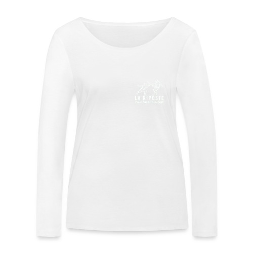 La Riposte Blanc - T-shirt manches longues bio Stanley & Stella Femme