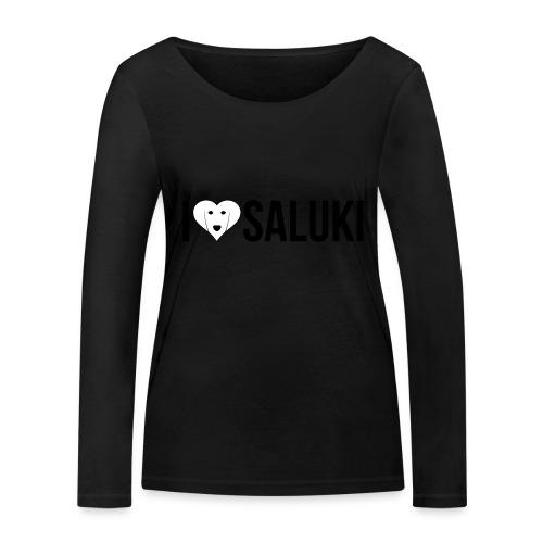 I Love Saluki - Maglietta a manica lunga ecologica da donna di Stanley & Stella