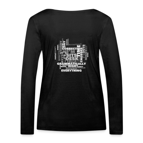Lyrics Game - Women's Organic Longsleeve Shirt by Stanley & Stella